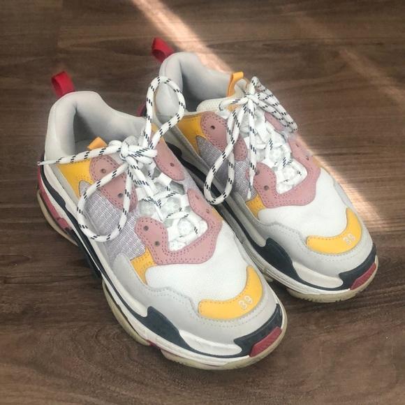 Yellow Pink Sneakers   Poshmark